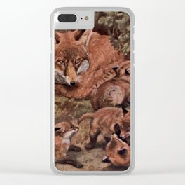Vintage Fox and Cuba Painting (1909) Clear iPhone Case