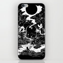 XIII - Death Card (Shadow Light Tarot) iPhone Skin
