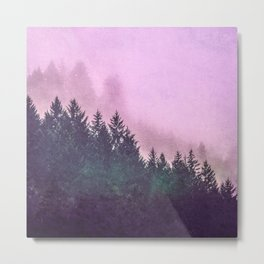 Misty Mountain Pass Metal Print