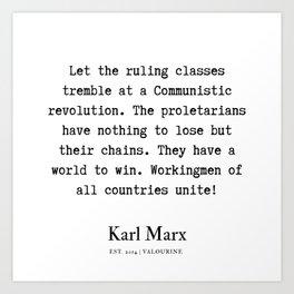 7    | Karl Marx Quotes | 190817 Art Print