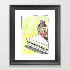 Sandwich and Tea's Tea Framed Art Print