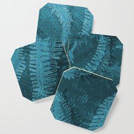 Ferns (light) abstract design Coaster