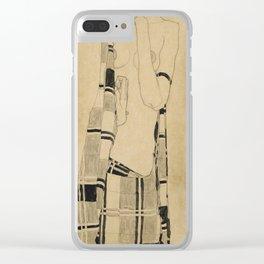 Egon Schiele  -  Standing Girl Clear iPhone Case