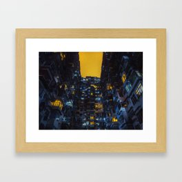 Ghost In The Shell Vibes / Liam Wong / Hong Kong Cyberpunk Framed Art Print