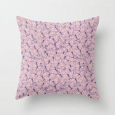 Butterfly Blush Throw Pillow