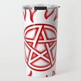 Anti Possession Sigil Red Glow Transp Travel Mug