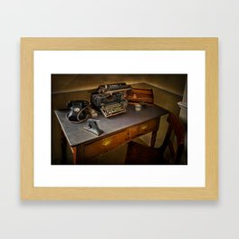 Vintage Writers Corner Framed Art Print