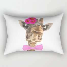 Giraffe funny animal illustration Rectangular Pillow