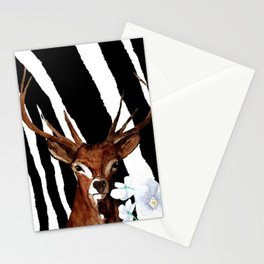 Zebra Deer Orchid Pattern Mix Stationery Cards
