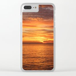 Sunset Sea Afterglow Clear iPhone Case