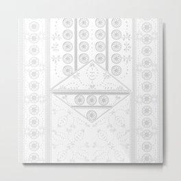 vintage mandala tile Metal Print