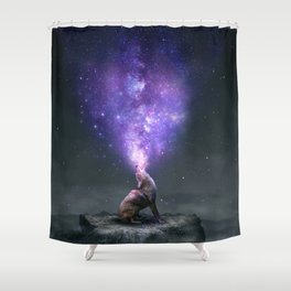 All Things Share the Same Breath Shower Curtain