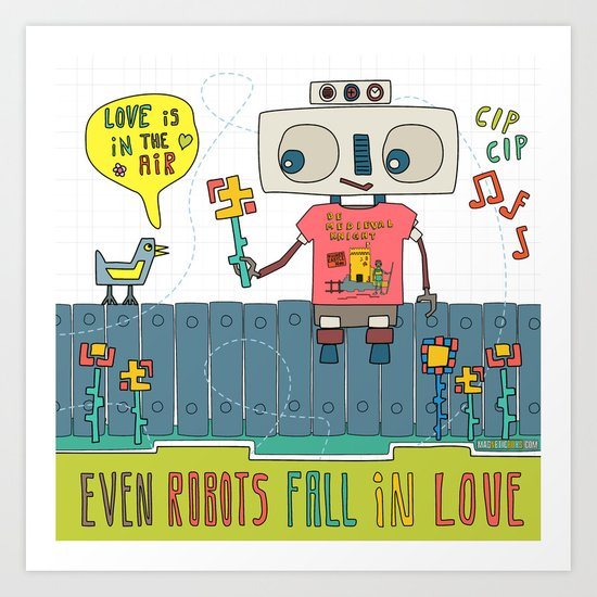 Even robots fall in love Art Print