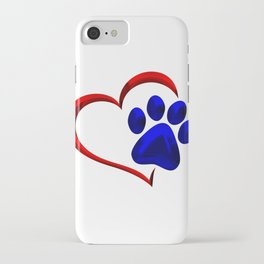 Paw Print on My Heart iPhone Case