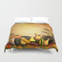 thanksgiving Duvet Covers featuring Thanksgiving Harvest by FantasyArtDesigns