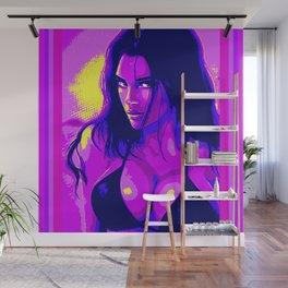 Neon Girl Wall Mural