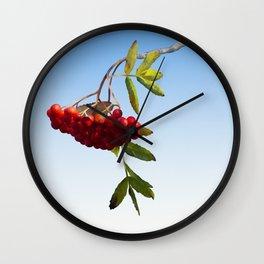 Rowan Tree Branch Wall Clock