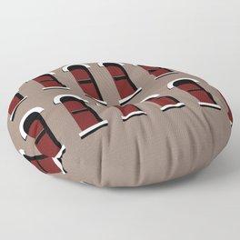 Windows Wall Texture Floor Pillow