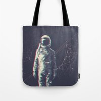 spaceman Tote Bags featuring Spaceman by Aeodi Graphics