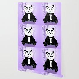 Panda Girl - Purple Wallpaper
