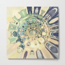 Blue Kaleidoscope Metal Print