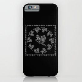World crows. Crows in different framework, round, square. iPhone Case