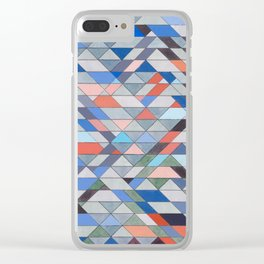 Triangle Pattern No. 7 Diagonals Clear iPhone Case