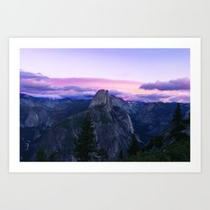 The Mountains and Purple Clouds Art Print