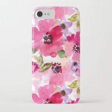 Watercolor Flowers iPhone 7 Slim Case