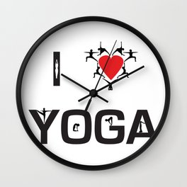 I heart Yoga Wall Clock