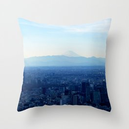 Fuji in the Distance Throw Pillow