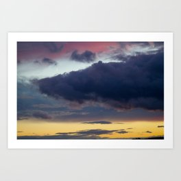 Clouds painted with separation Art Print