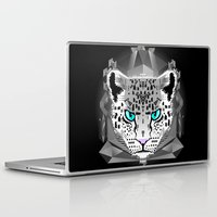 snow leopard Laptop & iPad Skins featuring Snow Leopard by chobopop