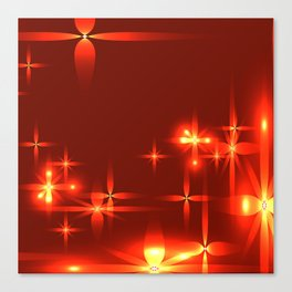Bloody background with shining light metal stars. Canvas Print