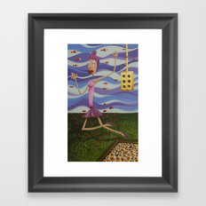 Floating Dancer Framed Art Print