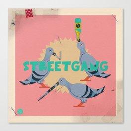 Street Pigeons Canvas Print