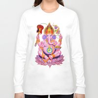 ganesh Long Sleeve T-shirts featuring Ganesh by Jared Bretholtz