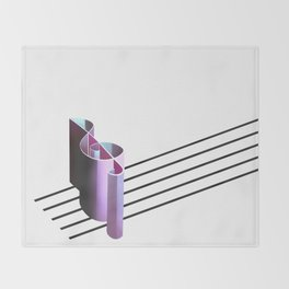 The Melodic Perspective Throw Blanket