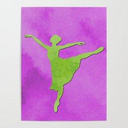 AP123 Watercolor dancer Poster