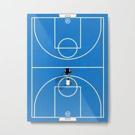 Shooting Hoops | Basketball Court Metal Print