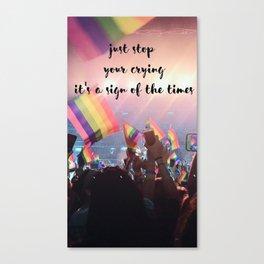 Harry Styles - rainbow flag Canvas Print