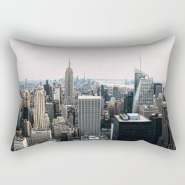 New York skyline from Top of the Rock Rectangular Pillow