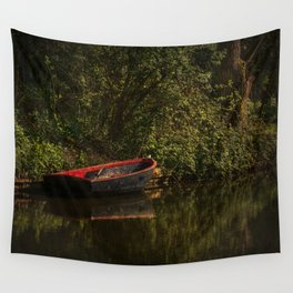 Dinghy On The Oxford Canal Wall Tapestry
