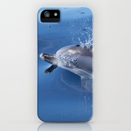 Dolphins and bubbles iPhone Case