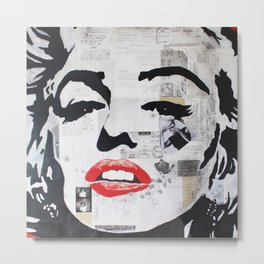 Marilyn «Fascination» Metal Print