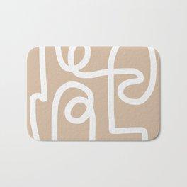 beige squiggle Bath Mat