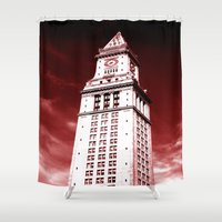 custom Shower Curtains featuring Custom House by Gold Street Prints
