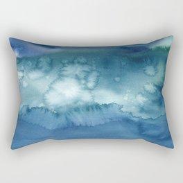 Blue Fog Rectangular Pillow