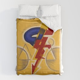 Vintage French Bicycle Cycles Dilecta Poster Comforters