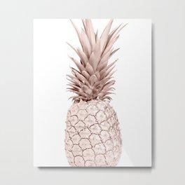 Rose Gold Pineapple Surprise Metal Print